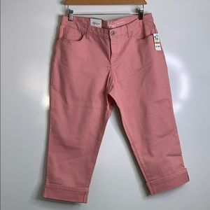 STYLE & CO • Curvy Capri Rose Pink Pants 14 P
